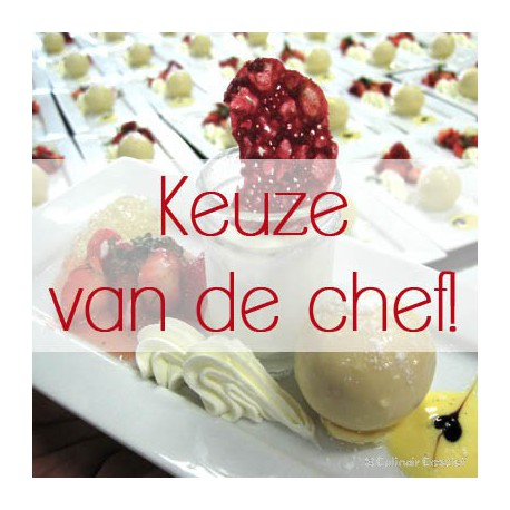 Winters mini-dessert van de chef